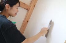 スライド・奥さん・漆喰塗り・生まれて来る赤ちゃんのためにリフォーム!