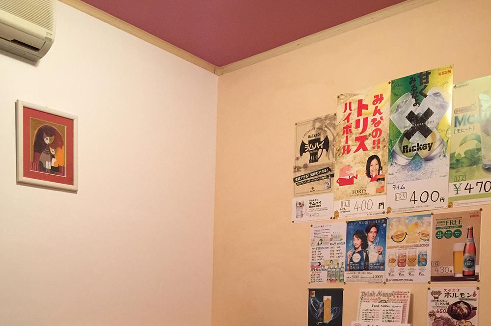 カラオケ部屋①カラフルなカラオケルームに大変身。